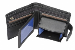 Mala Black Leather Origin Bi Fold Wallet Style 127 5